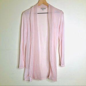 Loggia De Tessitori Pink Silk Trimmed Cardigan